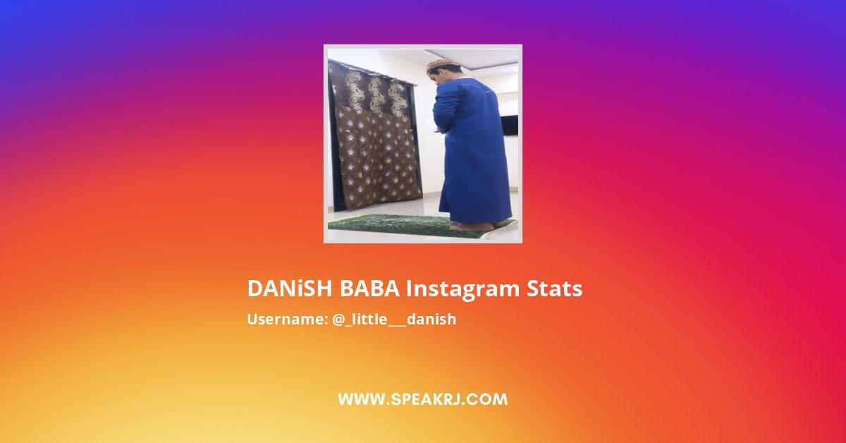 DANiSH BABA Instagram Stats