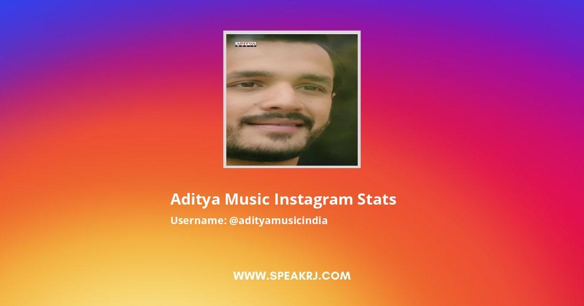 Aditya Music Instagram Stats