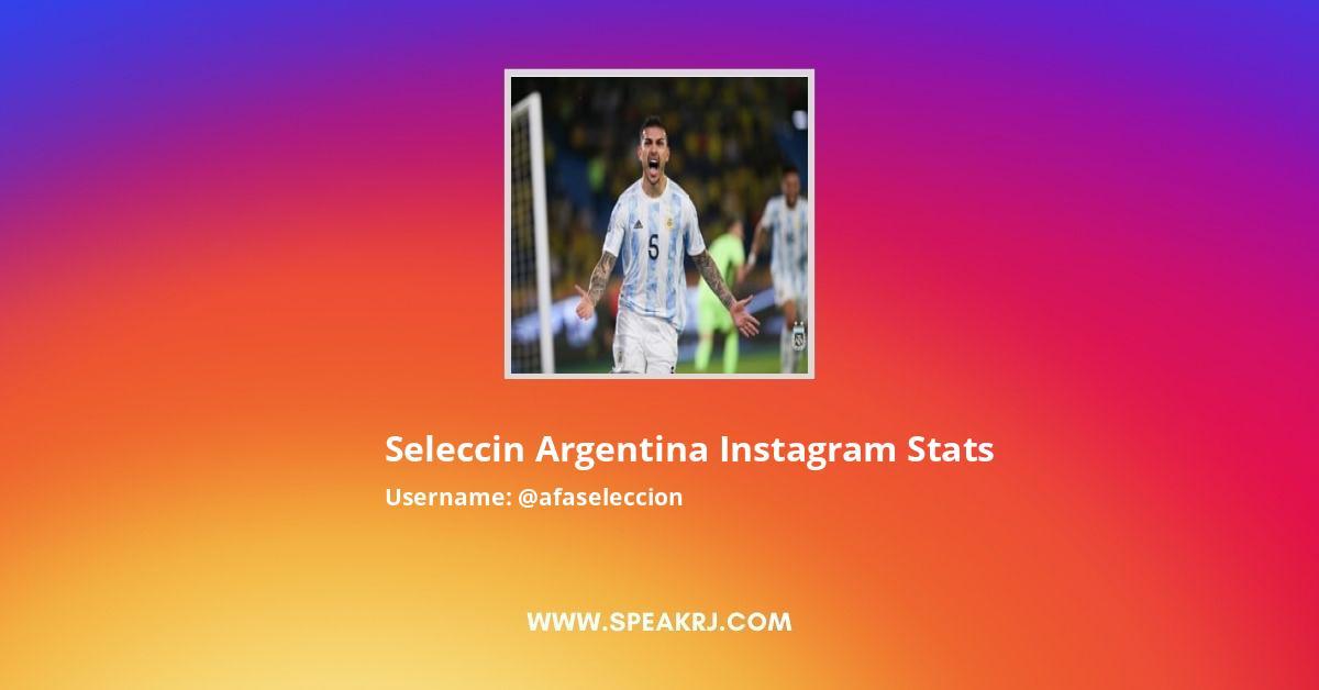 Afaseleccion Instagram Stats
