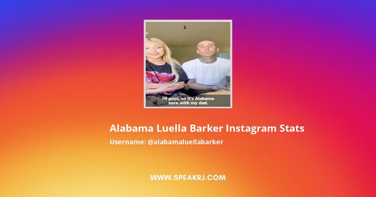 Alabama Luella Barker Instagram Stats