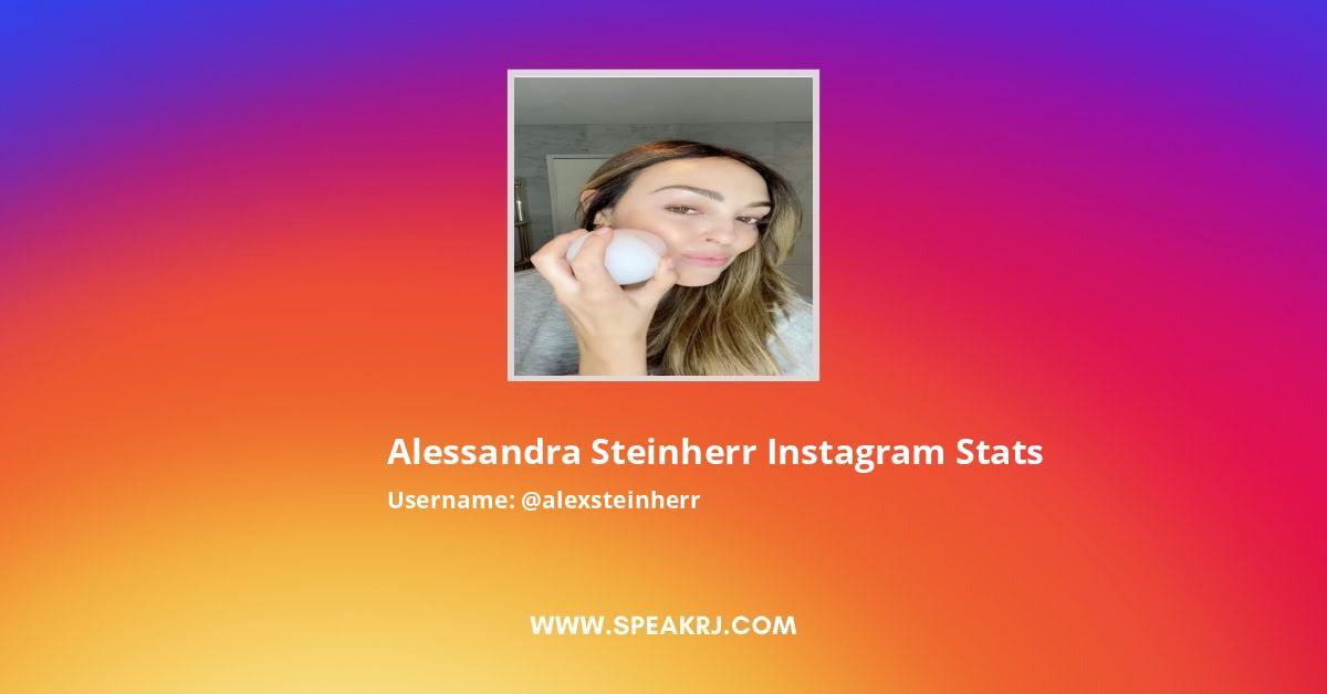 Alessandra Steinherr Instagram Stats