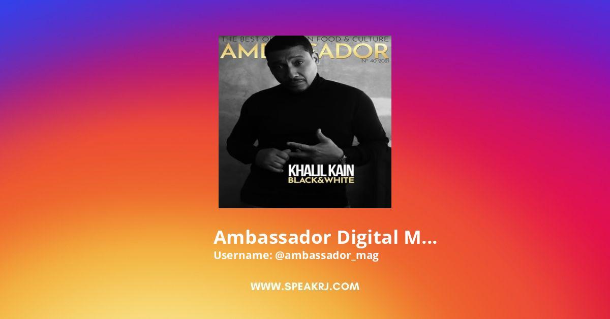 Ambassador Digital Magazine Instagram Stats