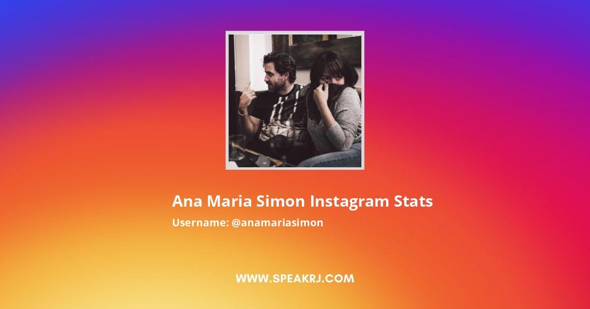 Anamariasimon Instagram Stats