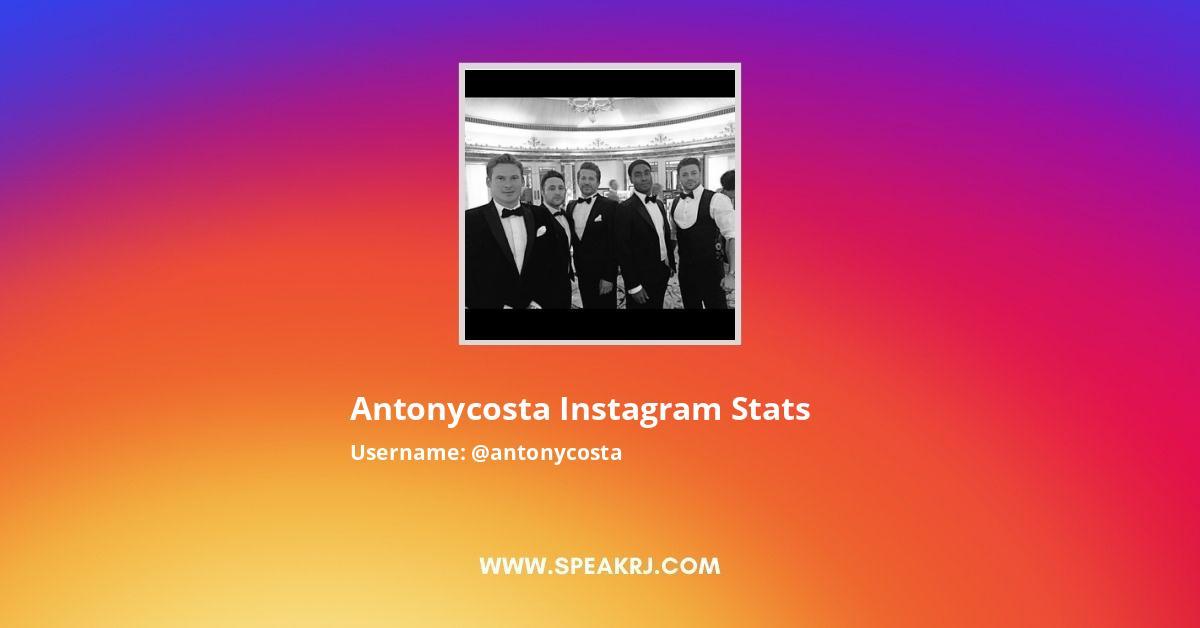 antonycosta Instagram Stats