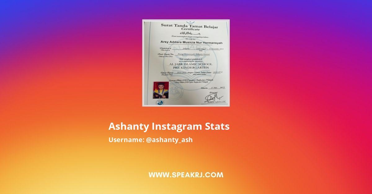 Ashanty Instagram Stats