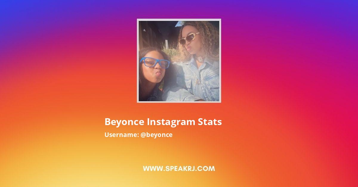 Beyonce Instagram Stats