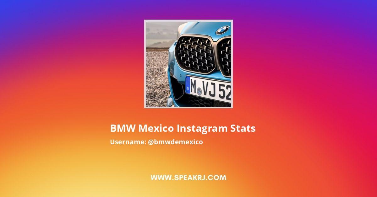 BMW Mexico Instagram Stats