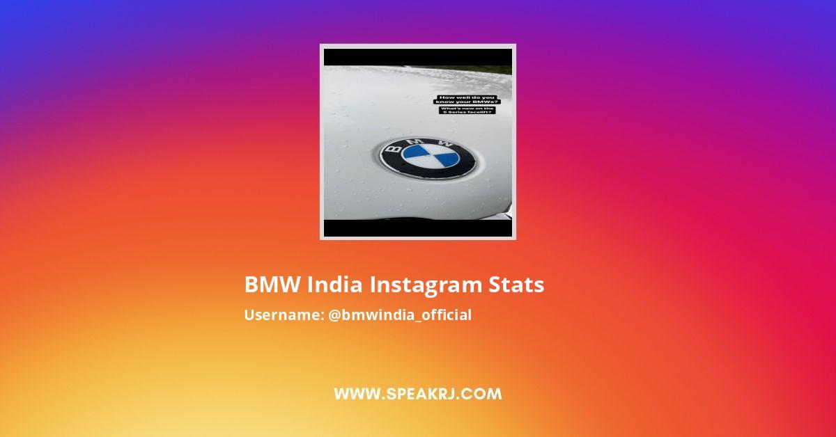 BMW India Instagram Stats