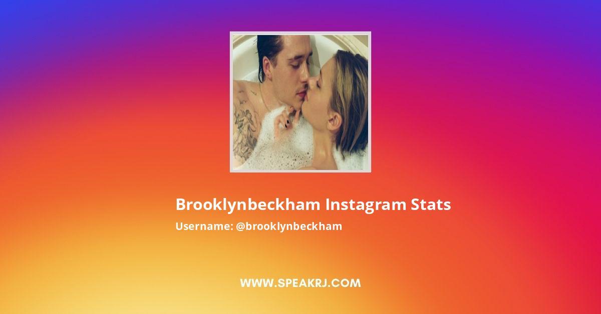 Brooklynbeckham Instagram Stats