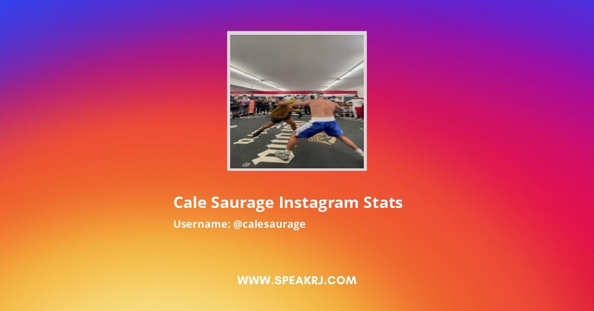 Cale Saurage Instagram Stats