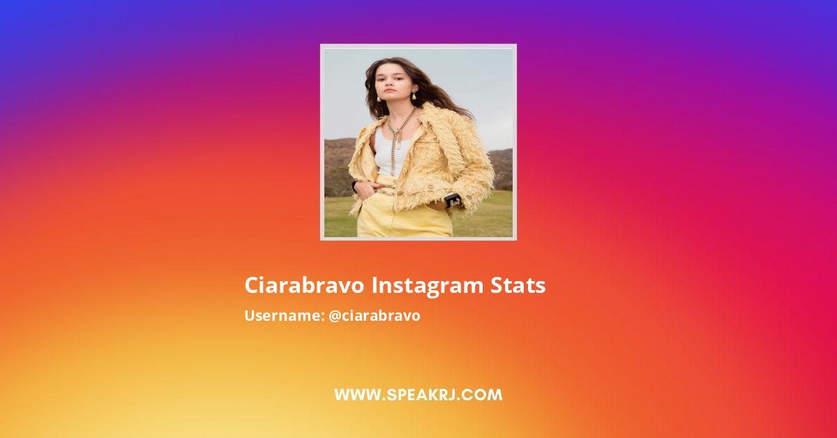 ciarabravo Instagram Stats