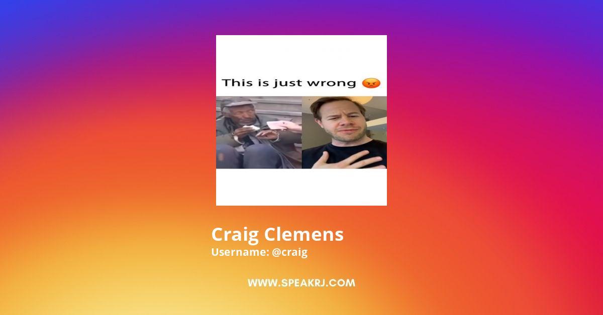 Craig Clemens Instagram Stats