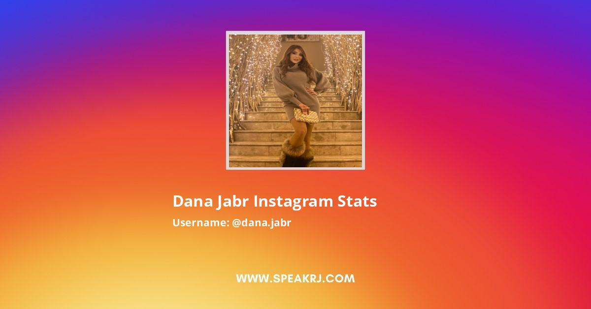 Dana Jabr Instagram Stats