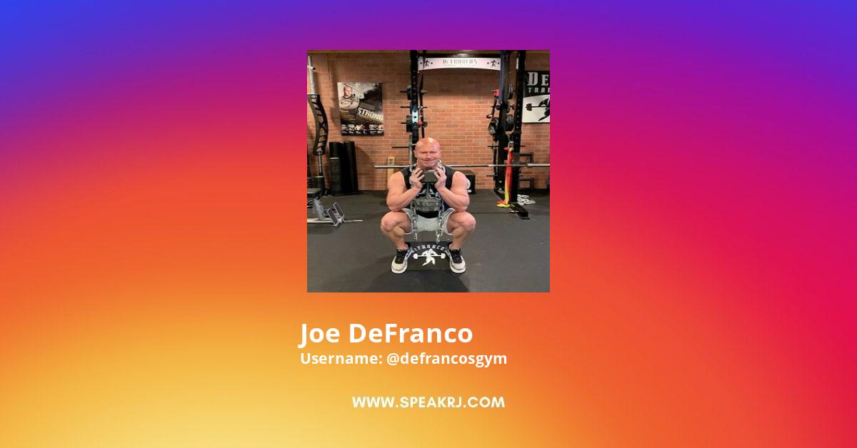 Joe DeFranco Instagram Stats