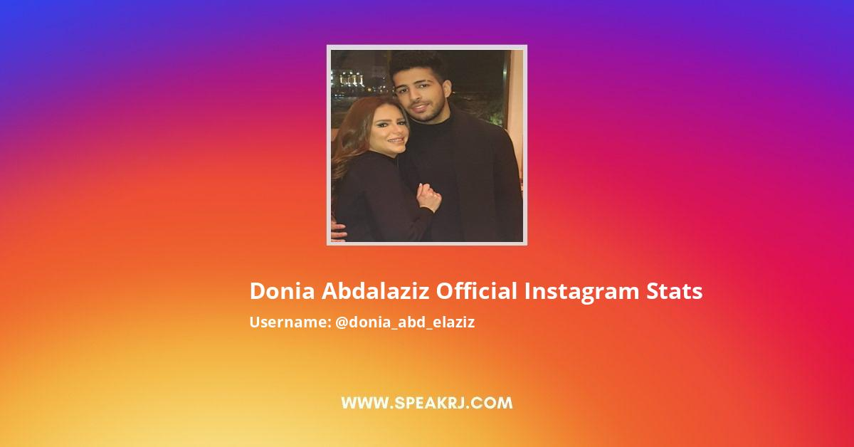 Donia Abdalaziz official Instagram Stats