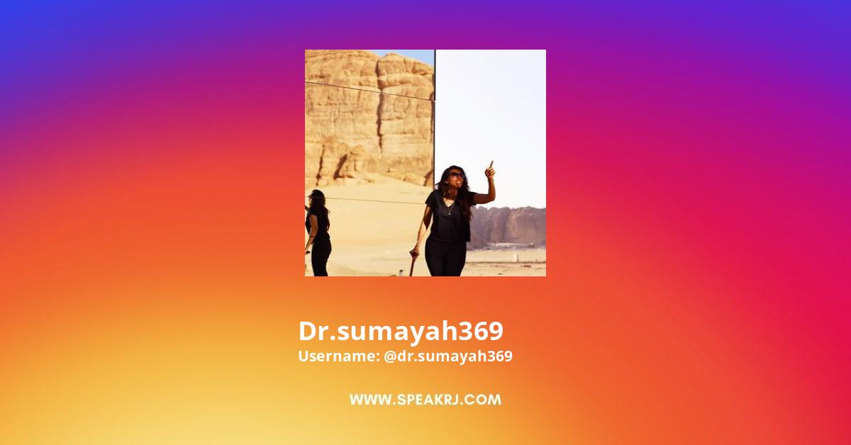 Dr.sumayah369 Instagram Stats