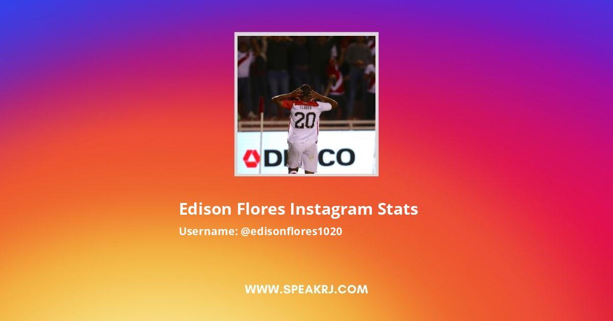 Edison Flores Instagram Stats