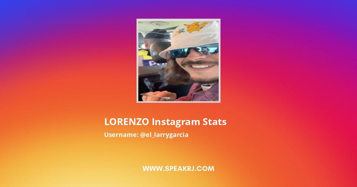 LORENZO Instagram Stats