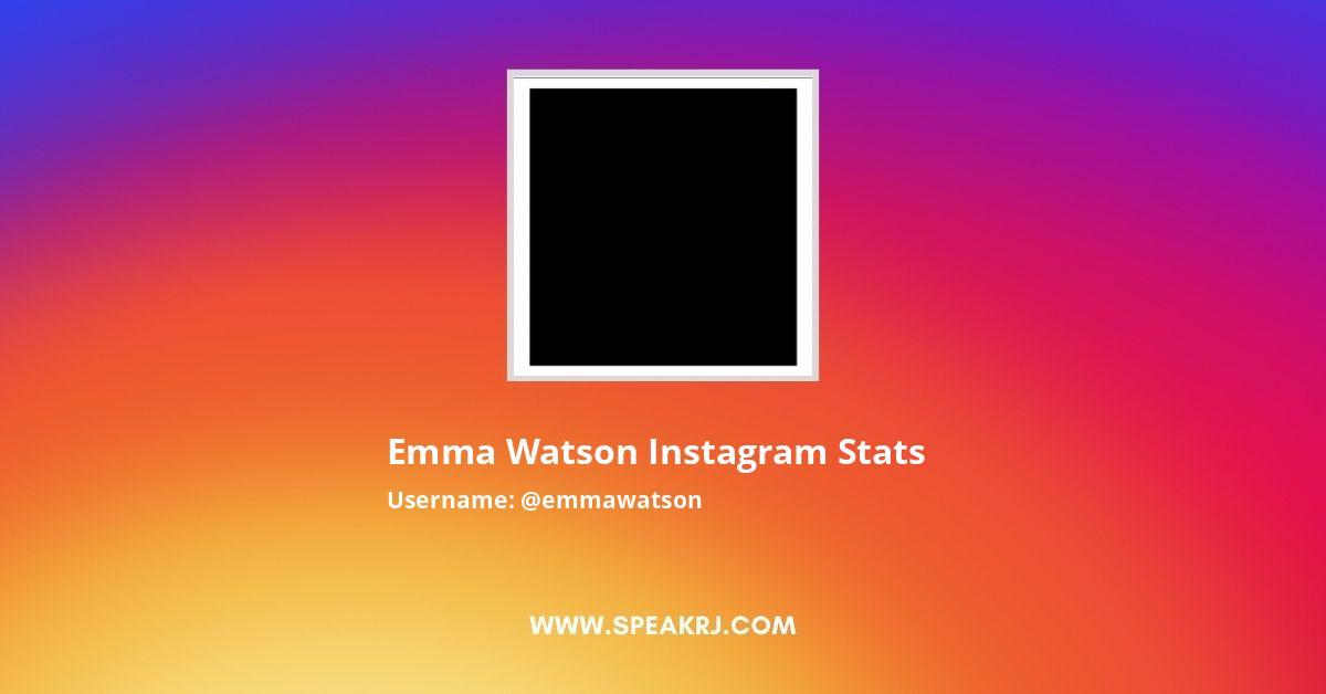 Emma Watson Instagram Stats