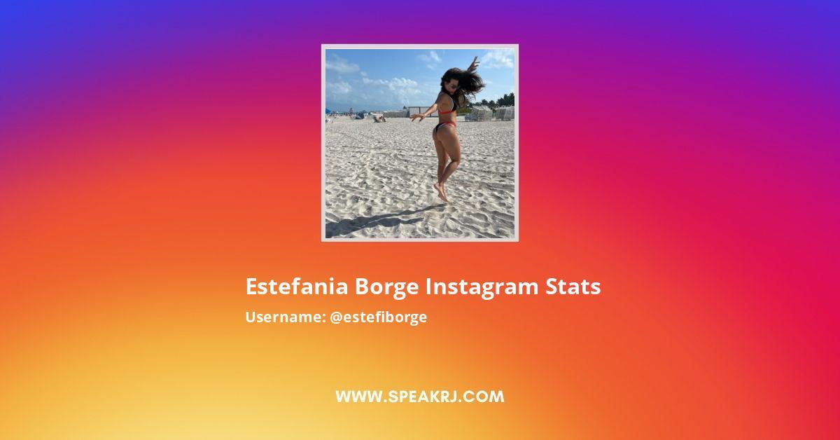 Estefania Borge Instagram Stats