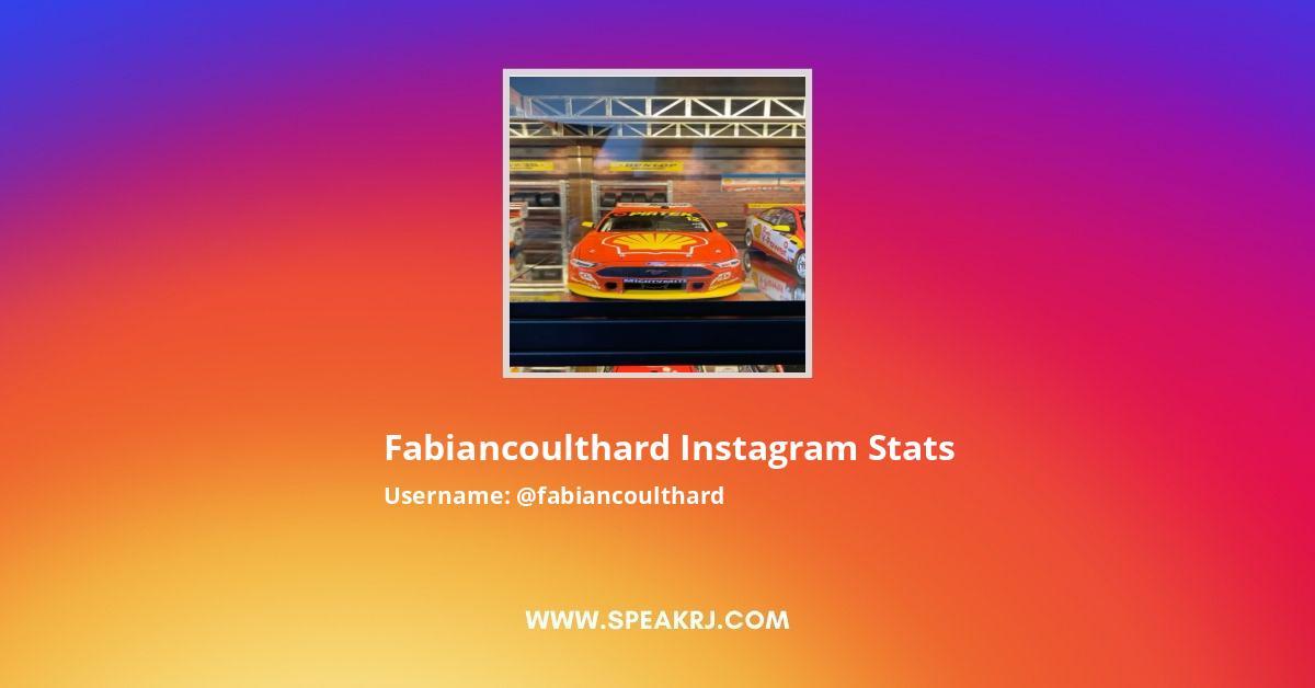 Fabiancoulthard Instagram Stats