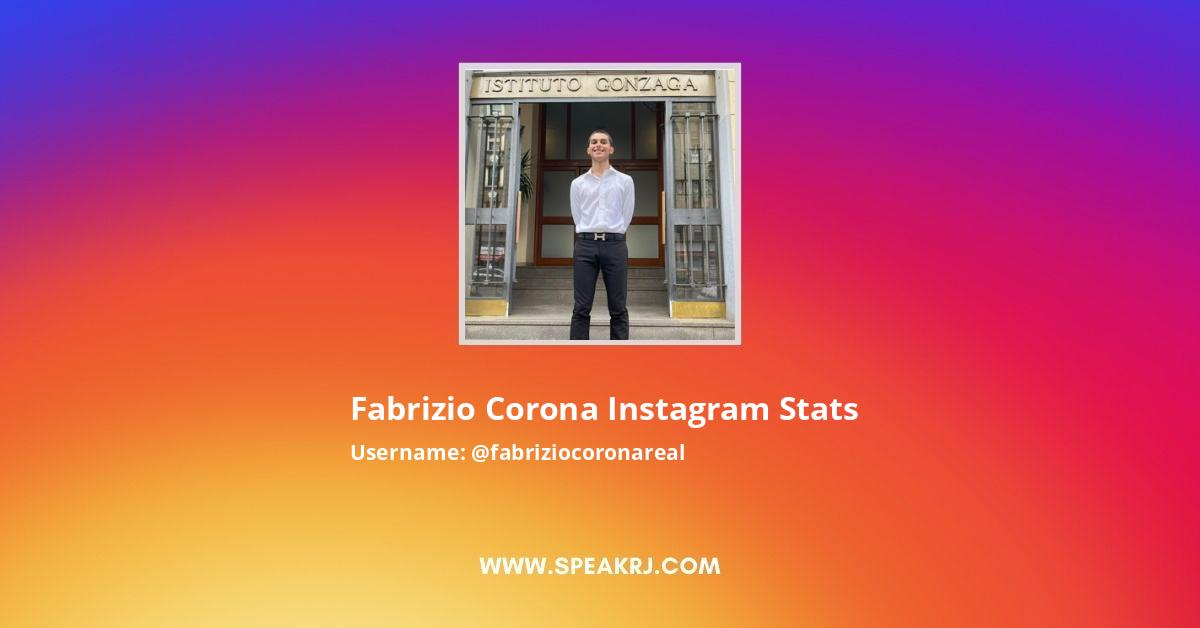 Fabrizio Corona Instagram Stats