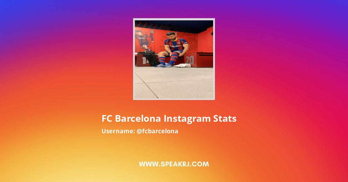 FC Barcelona Instagram Stats