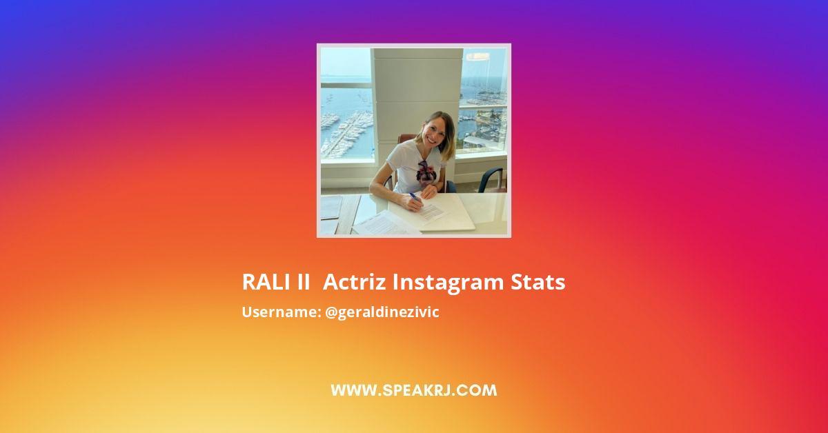 Geraldinezivic Instagram Stats
