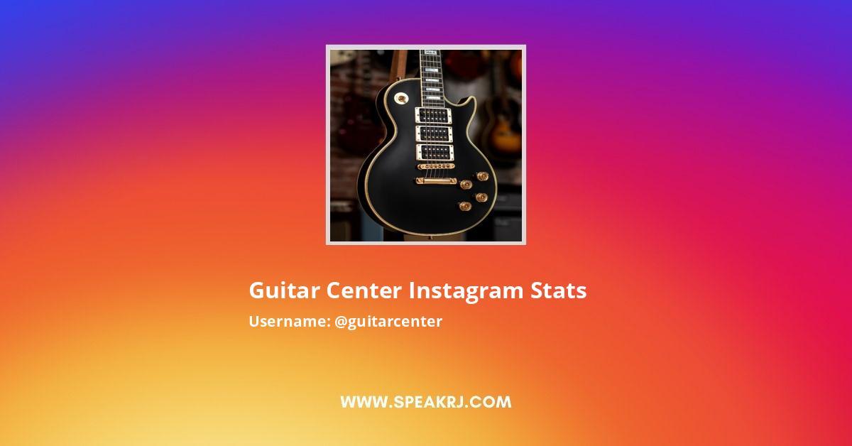Guitar Center Instagram Stats