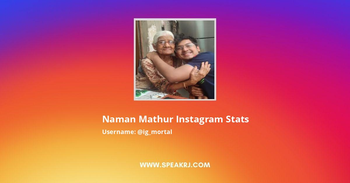 Naman Mathur Instagram Stats