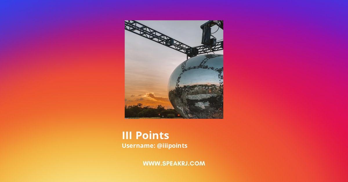 III Points Instagram Stats