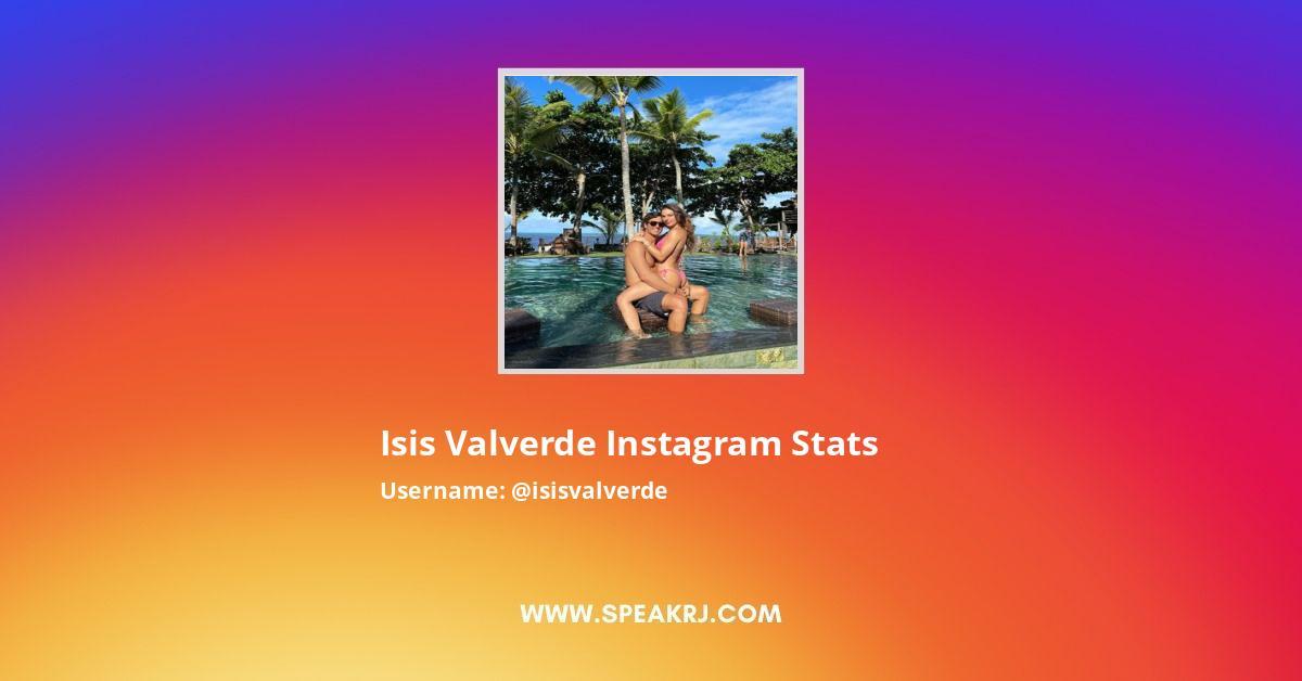 isis valverde Instagram Stats