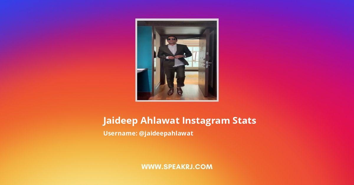 Jaideep Ahlawat Instagram Stats