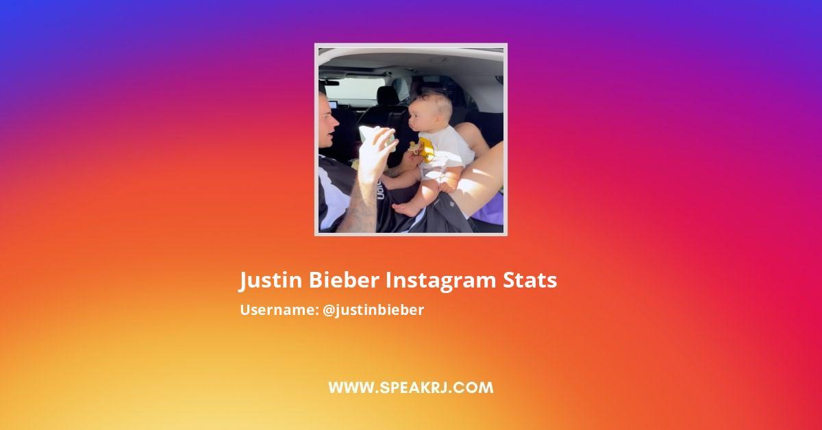 Justin Bieber Instagram Stats