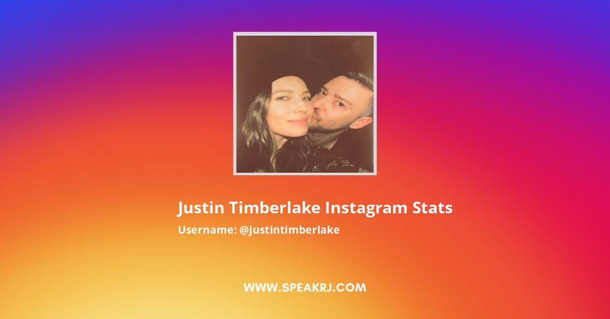 Justin Timberlake Instagram Stats