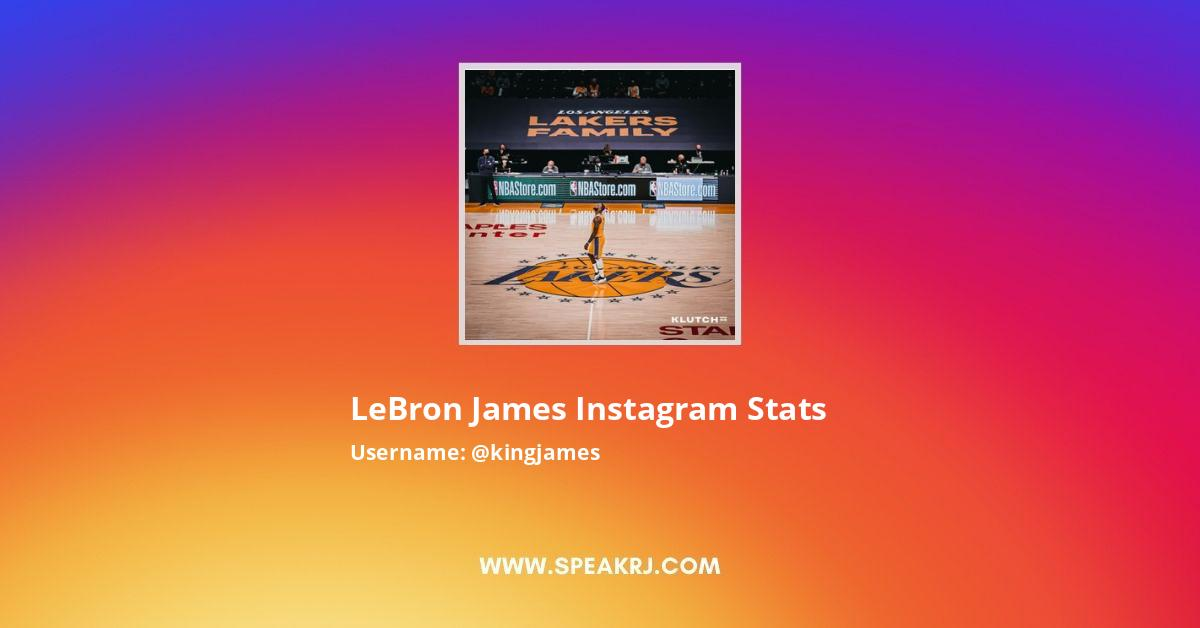 LeBron James Instagram Stats