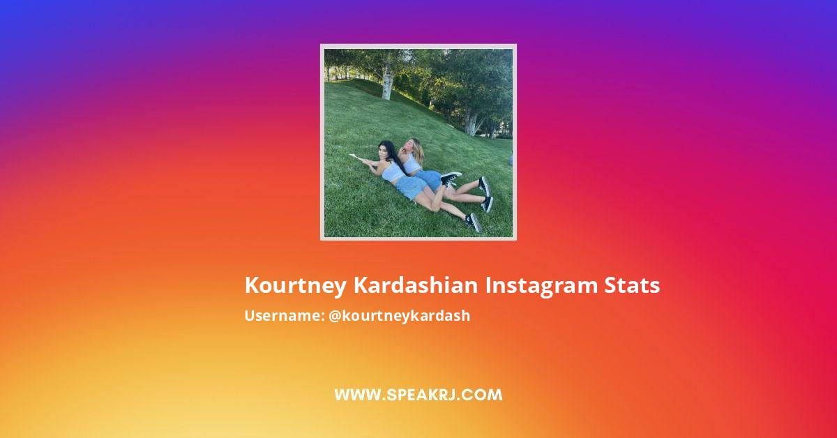 Kourtney Kardashian Instagram Stats