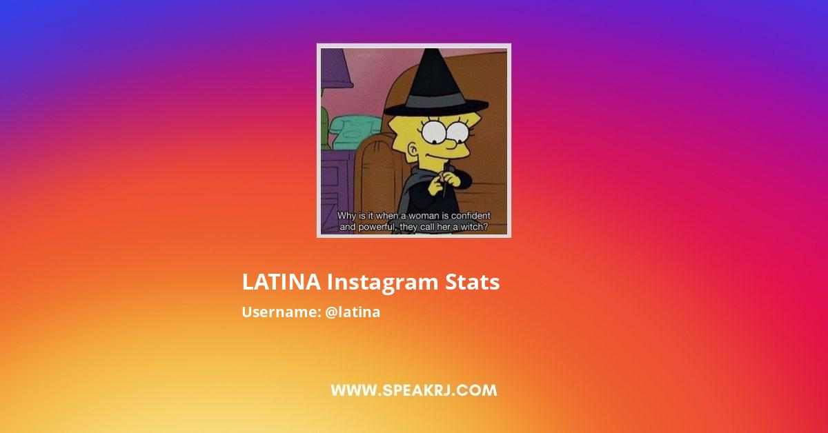 LATINA Instagram Stats