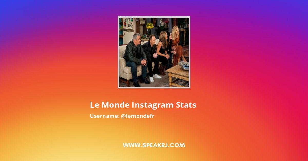 Le Monde Instagram Stats