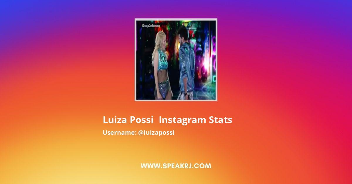 Luizapossi Instagram Stats