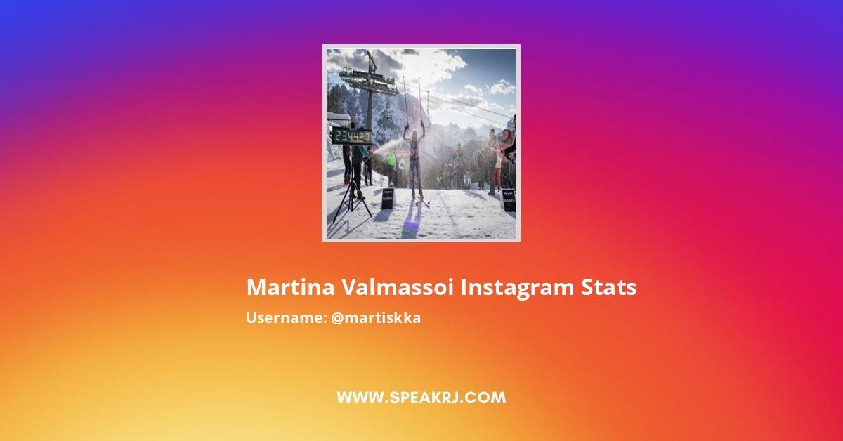 Martina Valmassoi Instagram Stats