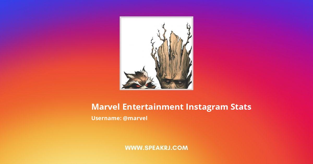 Marvel Entertainment Instagram Stats