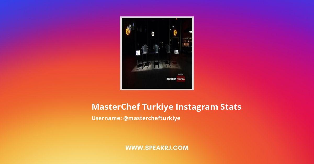 Masterchefturkiye Instagram Stats