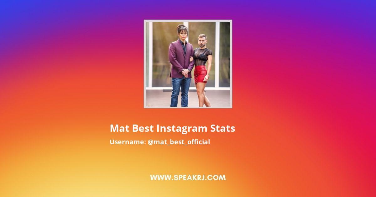 Mat Best Instagram Stats