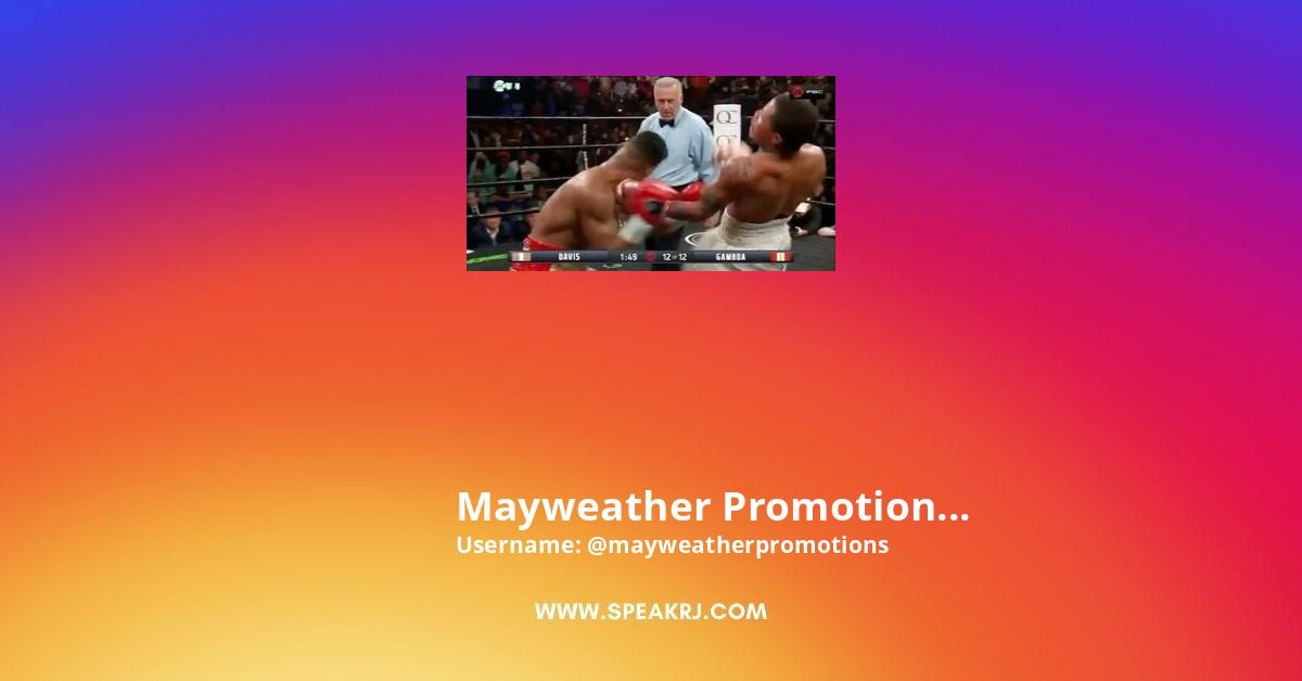 Mayweather Promotions Instagram Stats