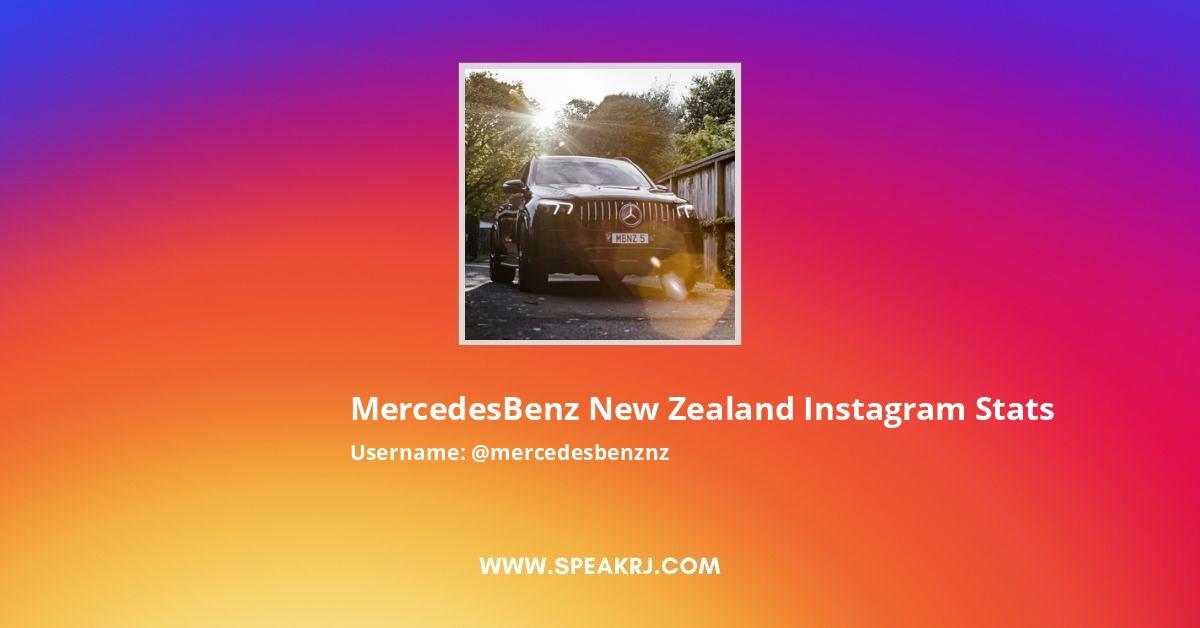 Mercedesbenznz Instagram Stats