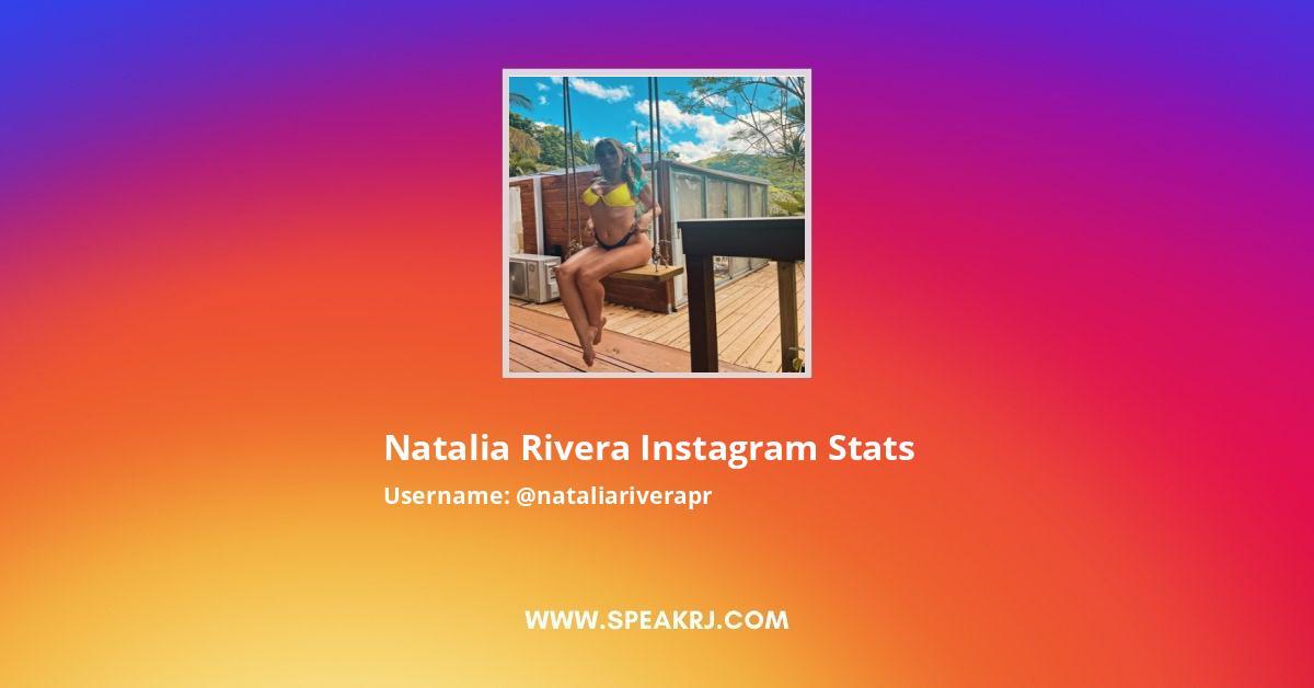 Natalia Rivera Instagram Stats