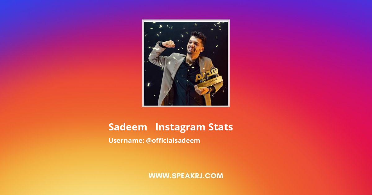 Officialsadeem Instagram Stats