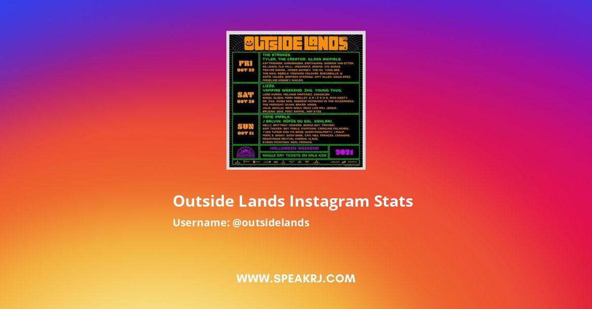 Outside Lands Instagram Stats