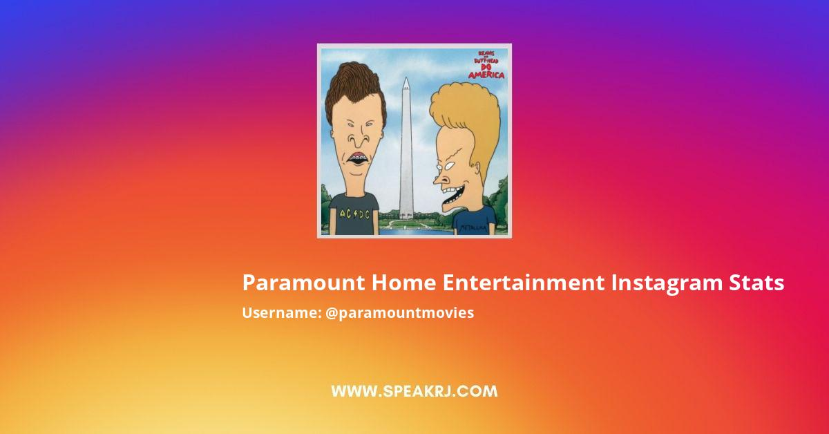 Paramount Home Entertainment Instagram Stats